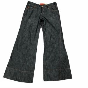 Level 99 Wide Leg Flare Gaucho Jeans Dark Wash 29
